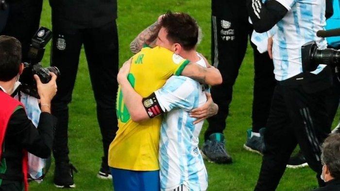 Copa America 2021: Meski Brasil Kalah, Neymar Tegar dan Kuat Beri Ucapan Selamat kepada Messi