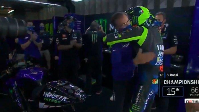 Video Haru Perpisahan Valentino Rossi dengan Tim Pabrikan Yamaha di Sesi Terakhir MotoGP 2020