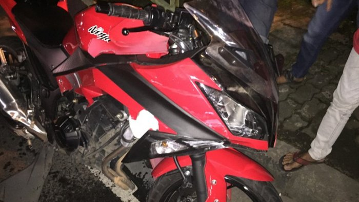 Akibat Melawan Arus, Dua Sepeda Motor Adu Banteng di Jalan Setiabudi Semarang