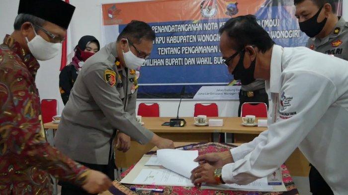 Polres Wonogiri Jalin Kerja Sama Dengan KPU Guna Pengamanan Pilkada 2020