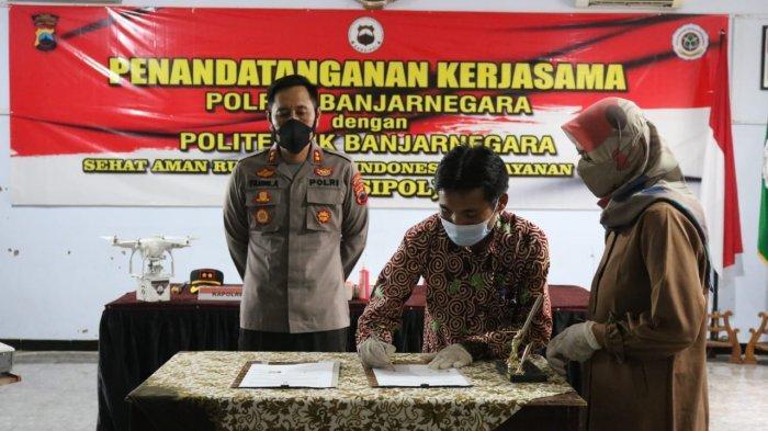 Politeknik Banjarnegara Teken Kerjasama dengan Polres