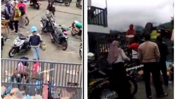 Viral warga ambil muatan truk pengangkut minuman isotonik kecelakaan di Karanganyar