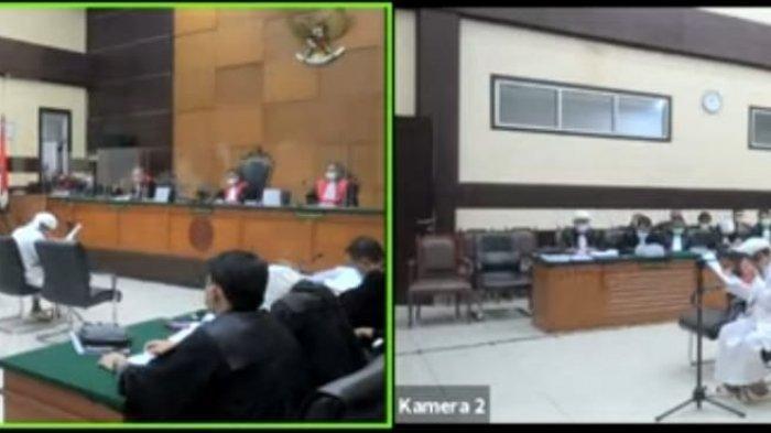 Rizieq Shihab Menangis di Sidang Ceritakan saat Dicekal hingga Tak Bisa Pulang ke Indonesia