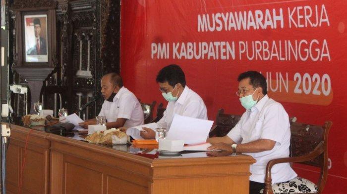 Pjs Bupati Purbalingga Sarwa Apresiasi Kontribusi PMI Purbalingga dalam Penanganan Covid 19