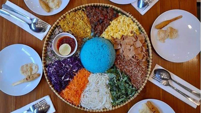 Orange Brown Cafe Tawarkan Menu Baru Nasi Ulam Bunga Telang, Harga Rp 199 Ribu