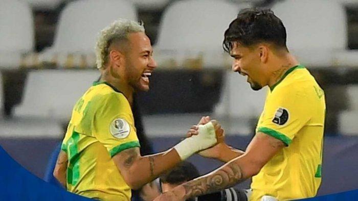 Cuplikan Gol Brasil vs Peru: Aksi Liak-liuk Neymar Mudahkan Mantan Pemain AC Milan Ini Cetak Gol