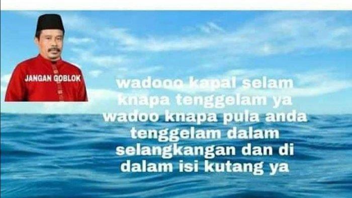 Screenshot Nurhadi Dildo soal KRI Nanggala tenggelam.