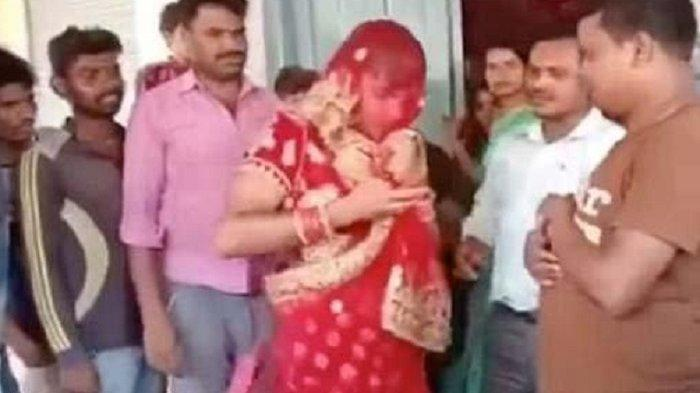 DUH GUSTI! Pria Ini Menyamar Wanita di Pesta Pernikahan Kekasih Gelapnya, Babak Belur Dihajar Massa