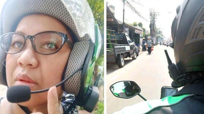 Viral Driver Ojek Online Pasang Alat Canggih di Helm, Bicara Tak Perlu Teriak