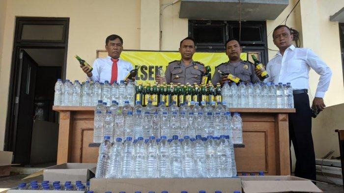 410 Botol Miras Disita Polisi, Hasil Operasi Selama Dua Pekan di Batang