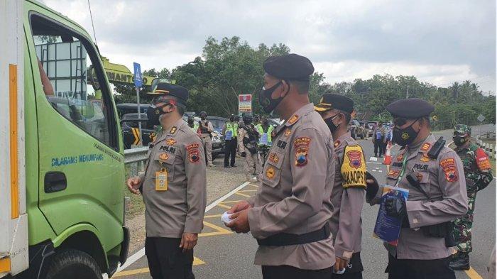 Polres Wonogiri Gelar Operasi Yustisi PPKM Darurat di Perbatasan Provinsi