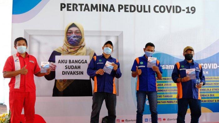 Operator dan Awak Mobil Tangki Pertamina di Semarang Jalani Vaksinasi