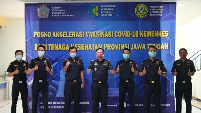 Optimis Percepat Pemulihan Ekonomi, Bea Cukai Tanjung Emas Vaksinasi Covid-19
