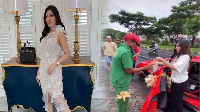 Pemilik MS Glow Shandy Purnamasari Bagikan Makanan Pakai Ferrari, Netizen Salfok Lihat Kerupuk