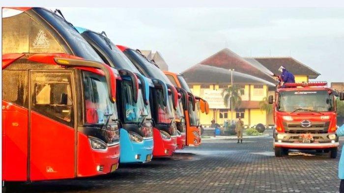 32 Bus Disiapkan untuk Bawa Warga Kudus Terpapar Covid-19 Isolasi di Asrama Haji Donohudan Boyolali