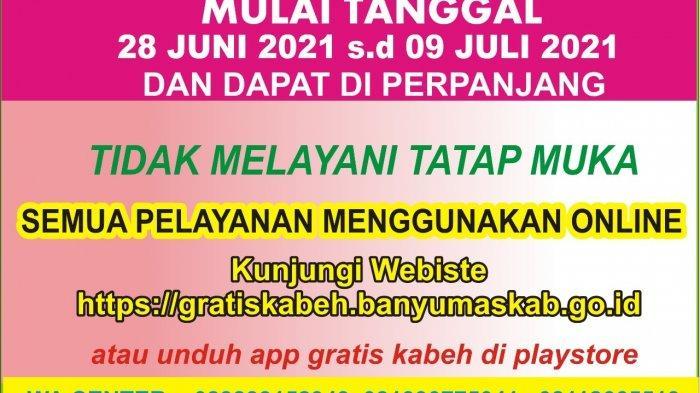 Mulai 28 Juni - 9 Juli Dindukcapil Banyumas Tidak Melayani Tatap Muka, Pelayanan Online di Link Ini