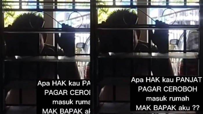 Video Viral: Pria Panjat Pinang eh Pagar, Minta Bertemu Mantan Istri, Sudah Talak 3 Minta Balikan