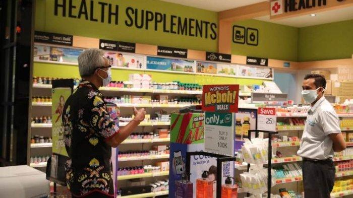 Pantau PPKM Darurat, Ganjar Cek Mal di Semarang: Terlihat Ada Toko-toko yang Kreatif Berjualan