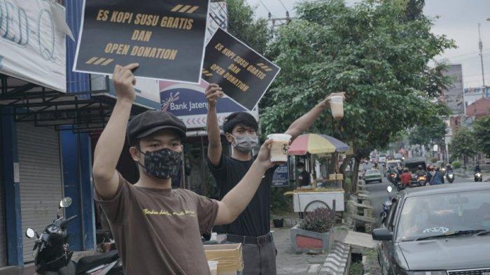 Pengusaha Kedai Kopi di Purwokerto Bagikan Kopi Susu Gratis, Galang Donasi untuk Korban Covid-19