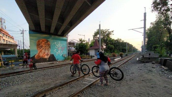 Pemkot Solo Ajukan Izin ke PT KAI untuk Buat Jalur Khusus Sepeda di Perlintasan Sebidang