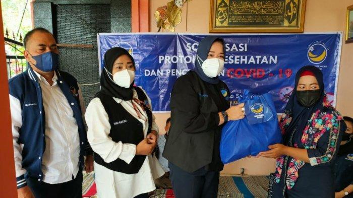 Partai Nasdem Kota Semarang Sosialisasi Prokes Sekaligus Beri Bantuan Warga Terpapar Covid-19