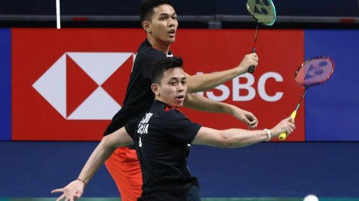 Hasil Badminton Sudirman Cup 2021 Indonesia Vs Kanada - Fajar/Rian Sumbang Poin