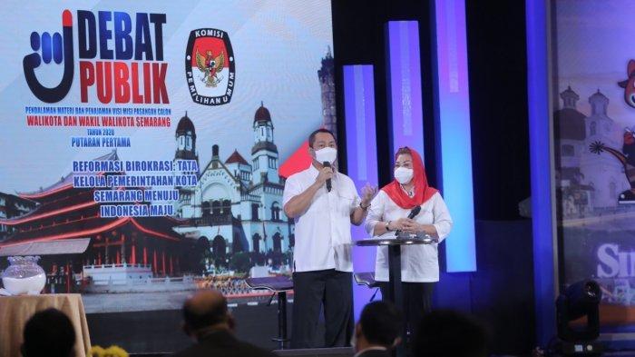 Debat Publik Pilwakot Semarang, Hendi Beberapa Kali Sanggah Pertanyaan Tim Pakar