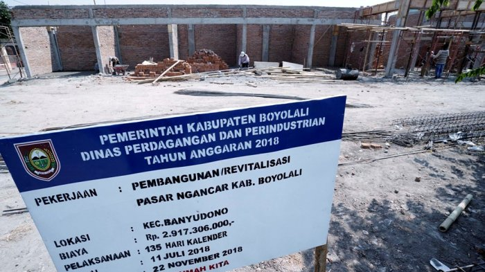 Pemkab Boyolali Alokasikan Rp 2,9 Miliar untuk Revitalisasi Pasar Ngancar Banyudono