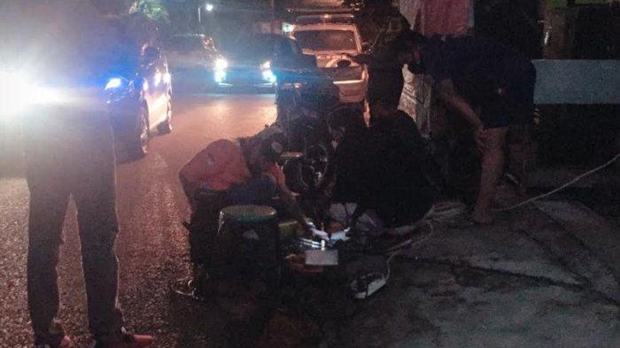 Warga Semarang Barat Diresahkan Bocornya Pipa Gas Bumi Semalam, Kapolsek Turun Tangan