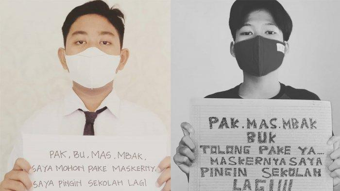 Pelajar Batang Sudah Kangen Masuk Sekolah, Bikin Kampanye Pakai Masker di Medsos