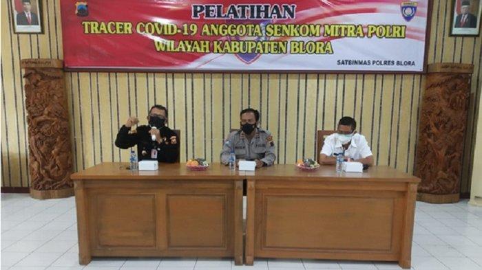 30 Relawan Senkom Mitra Polri Blora Ikuti Pelatihan Tracer Covid-19 di Mapolres Blora