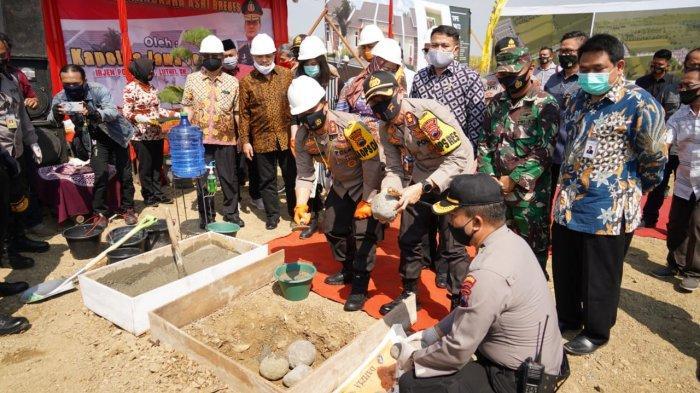 Kapolda Jateng Irjen Pol Ahmad Luthfi Awali Pembangunan Perumahan Griya Bhayangkara Asri di Brebes