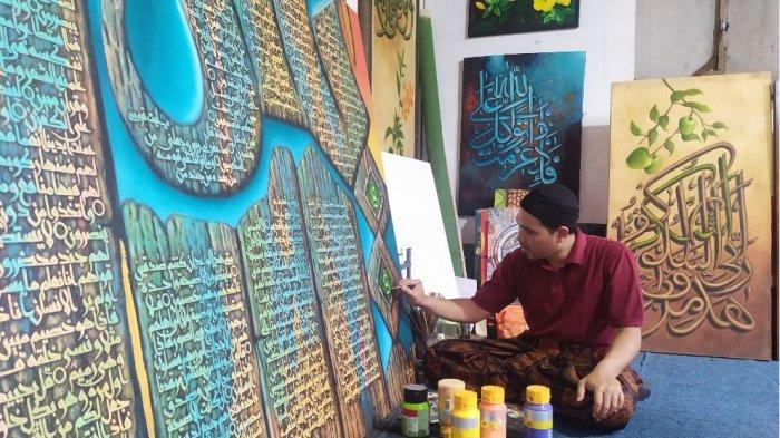 Menengok Sanggar Seni Kaligrafi Alif di Salatiga, Karyanya Diminati hingga Luar Negeri