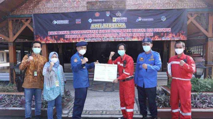 Pertamina Cilacap Dukung Peluncuran Aplikasi Pemadaman Kebakaran Terpadu, Satkar Taru