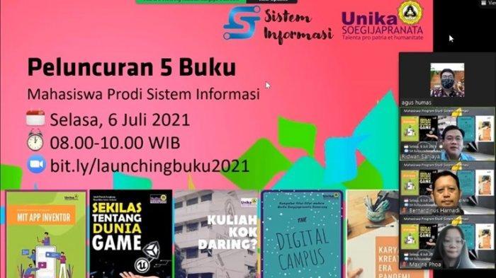 Unika Semarang Kembali Luncurkan Lima Buku Karya Mahasiswa