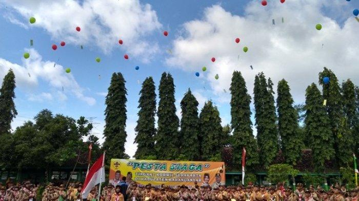 Ratusan Anggota Pramuka Ikuti Pesta Siaga Korwil Eks Karesidenan Surakarta