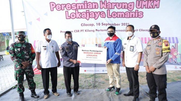 Warung UMKM Lokajaya Lomanis, Keseriusan PT KPI Unit Cilacap Bangun Masyarakat Mandiri Ekonomi