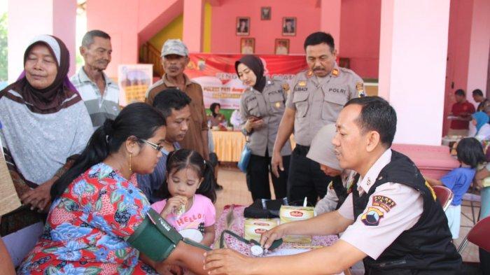 Warga Desa Tlogorejo Diperiksa Kesehatan Gratis Polres Pati, Bagian Perayaan HUT Bhayangkara ke 73