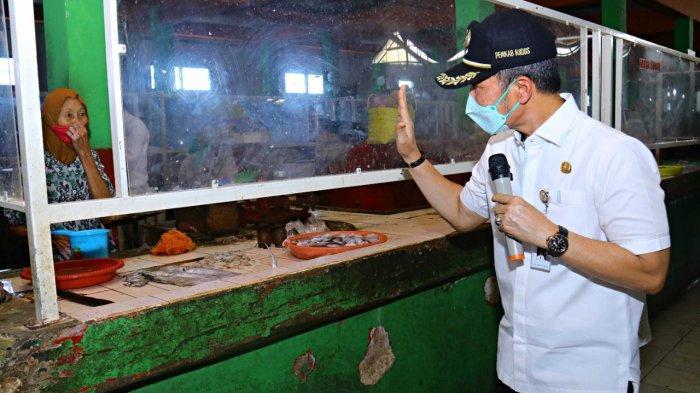 Bupati Hartopo Pantau Prokes dan Stok Pangan di Pasar Tradisional Kudus 
