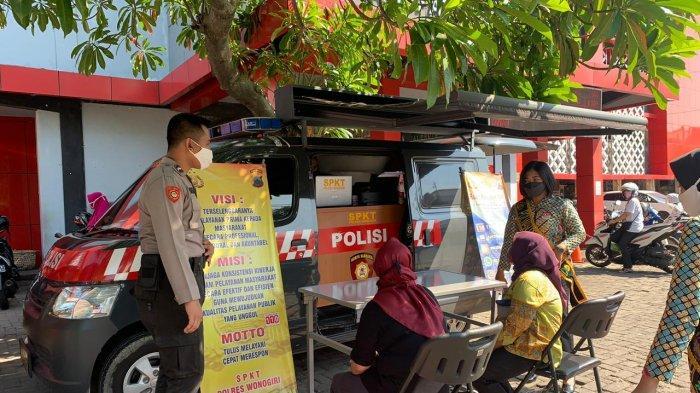 Cegah Pungli dan Mudahkan Layanan, Mobil BLKK Polres Wonogiri Standby di Pasar