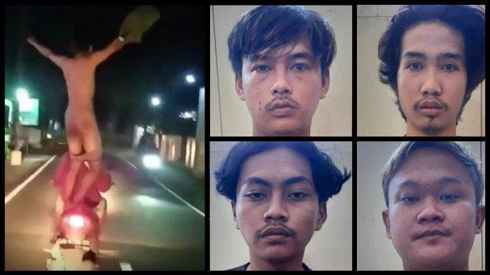 Wajah Kawanan Pemuda Klaten Telanjang Jingkrak-jingkrak di Jalan