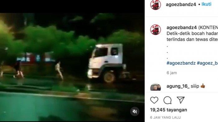 Pemuda ini Nekat Hadang Truk hingga Tewas Terlindas demi Konten Video
