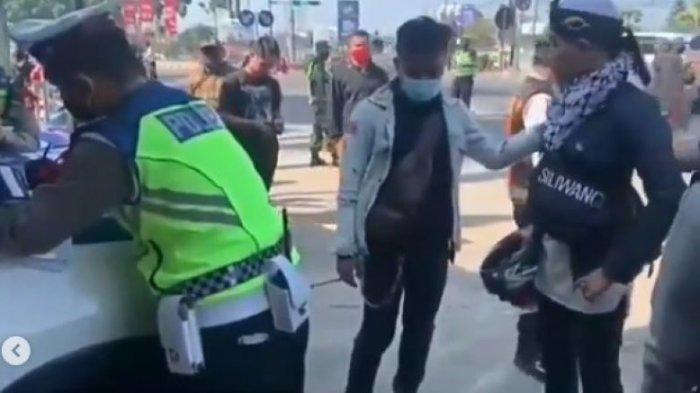 Pemudik Pura-pura Kesurupan di Pos Penyekatan Bandung Agar Lolos, Polisi Tetap Beri Surat Cinta