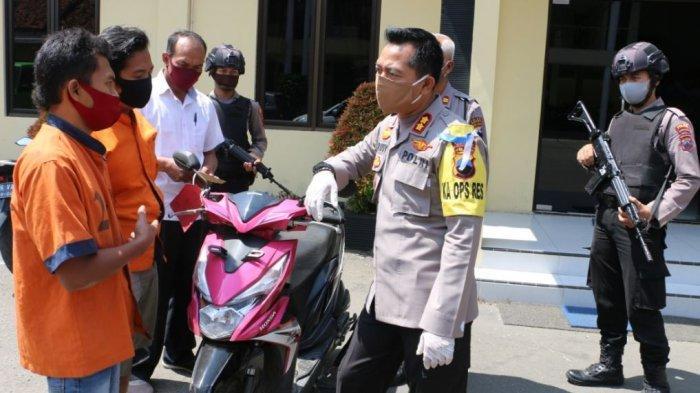 Penadah Motor Curian Warga Banyumas Ditangkap Setelah Jual Motor Curian via Facebook
