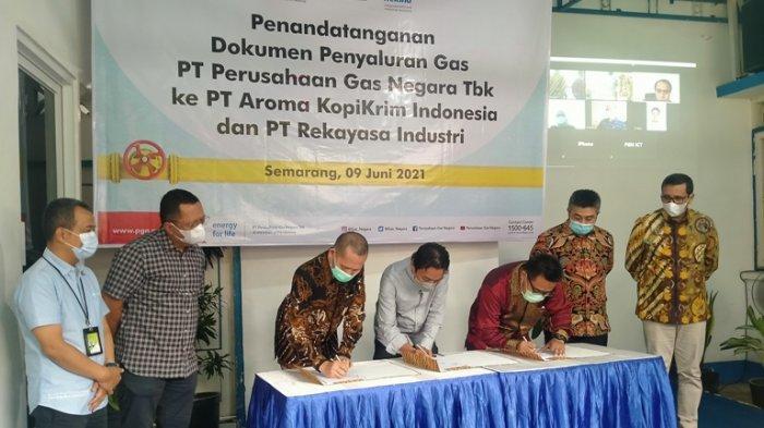 PGN - PT Aroma Kopi Tandatangani Perikatan Penyaluran Gas, Diyakini Mampu Tekan Biaya Produksi