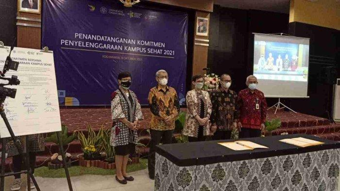 UMP Puwokerto Bersama UGM dan Kemenkes Jalin Kerjasama Pengembangan Kampus Sehat