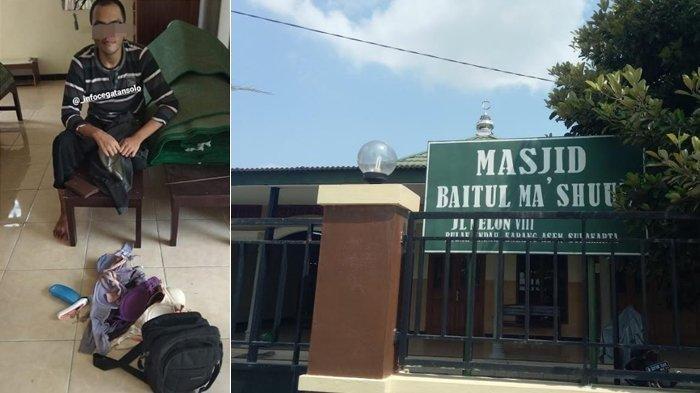 Viral Takmir Masjid di Sukoharjo Kaget Temukan Selusin BH Saat Geledah Tas Pria Pencuri Kotak Amal