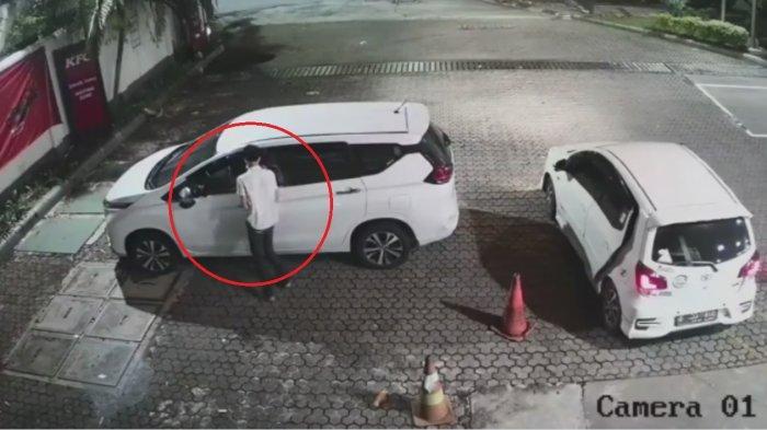 Terlelap Tidur di SPBU Jalan S Parman, Pemilik Mobil Tak Tahu Komplotan Pencuri Datang Terekam CCTV
