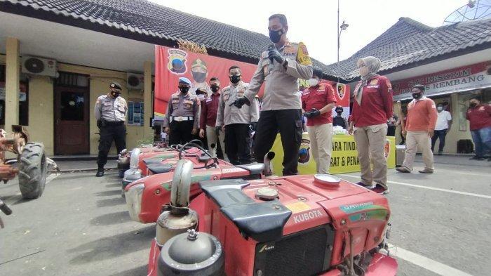 3 Maling Mesin Traktor di Rembang Kalah Cerdas dengan Penadah, Diam Saja Bisa Untung Rp 28 Juta
