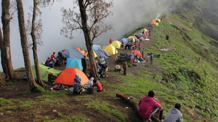 Gunung Rinjani Dibuka Kembali Mulai22 Agustus 2020,Kuota Pendaki Dibatasi